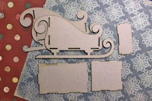 шаблон из картона сани деда мороза 023