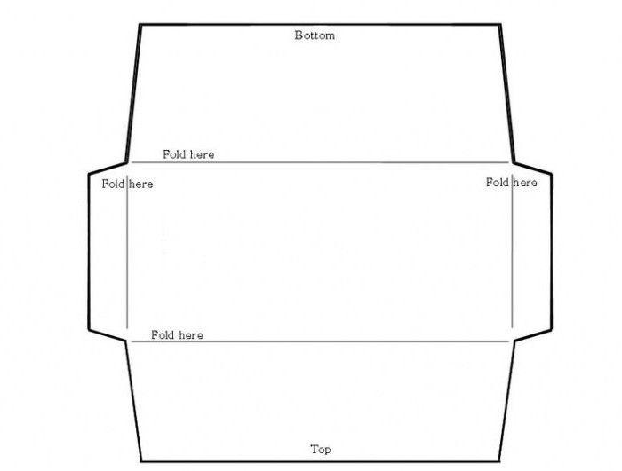 шаблон конверта для денег на свадьбу 001