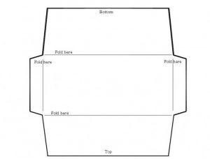 шаблон конверта для денег на свадьбу 023