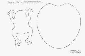 шаблон лягушки 024