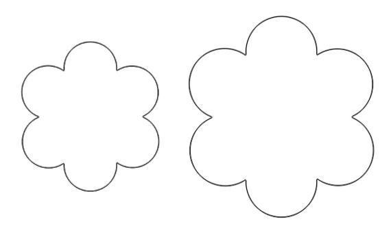 шаблон цветика семицветика для вырезания из бумаги 001