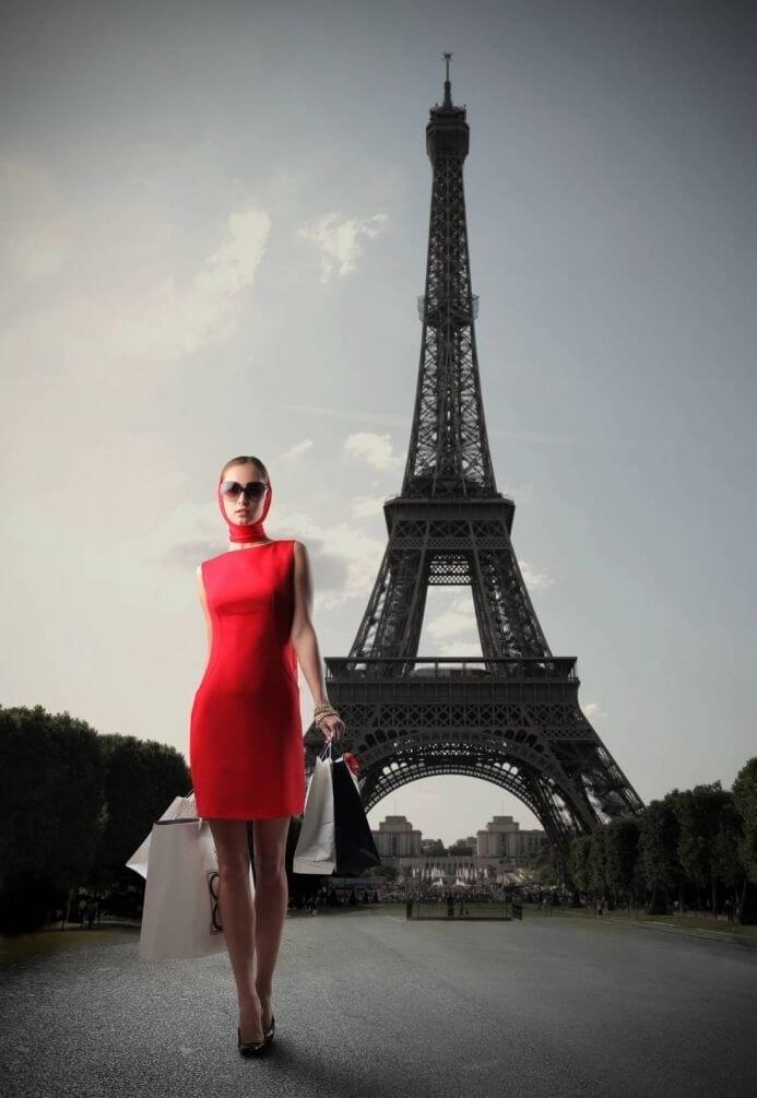 эйфелева башня и девушка 012