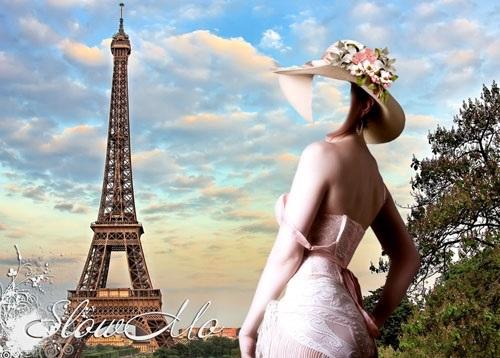 эйфелева башня и девушка 015