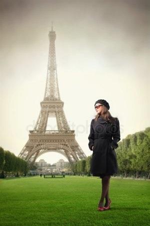 эйфелева башня и девушка 021