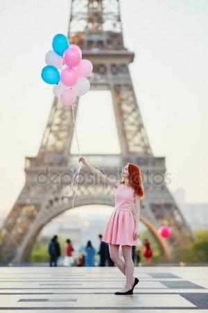 эйфелева башня и девушка 022