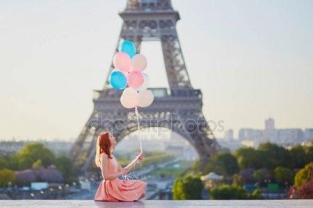 эйфелева башня и девушка 023