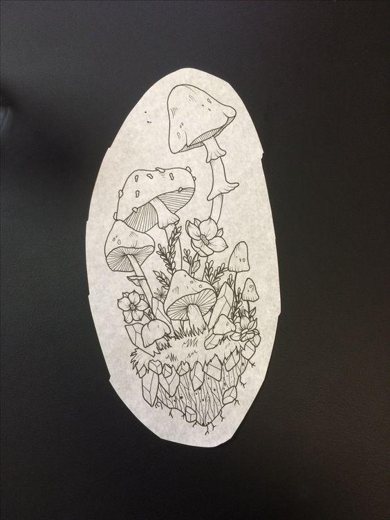 эскизы грибов 014