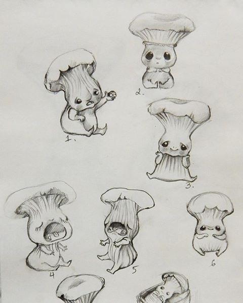 эскизы грибов 019