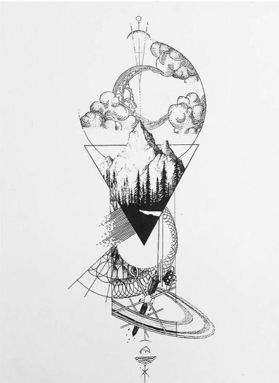 эскизы для рисования 011