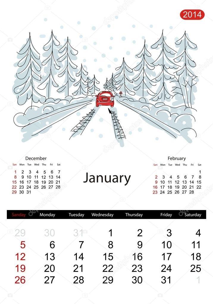 эскизы календарей 002