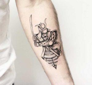 эскизы татуировок японские самураи 022