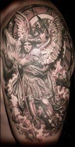 эскизы тату архангела михаила 022