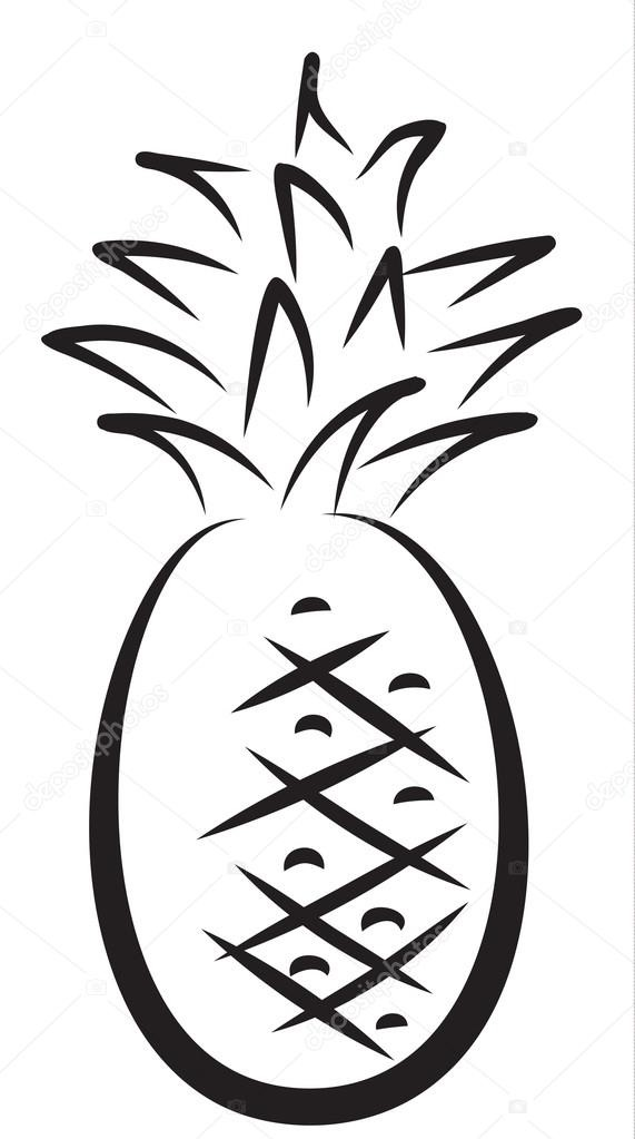 эскиз ананаса 008