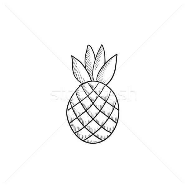 эскиз ананаса 019