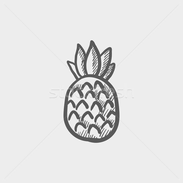 эскиз ананаса 020