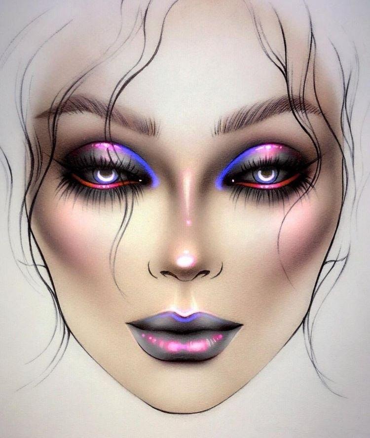 эскиз макияжа 002