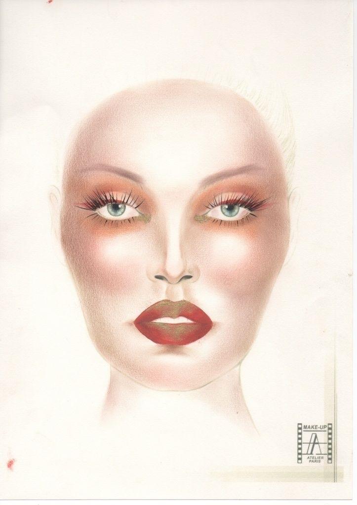 эскиз макияжа 003