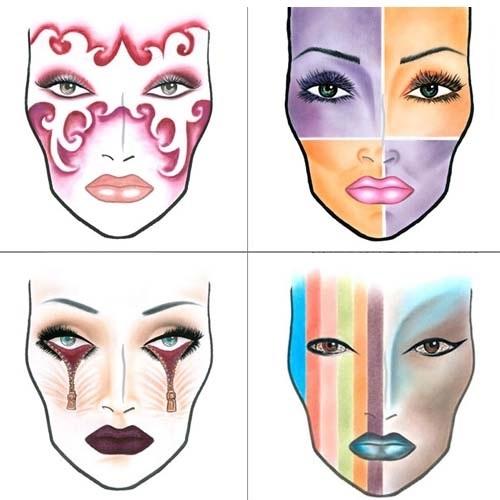 эскиз макияжа 007