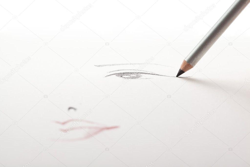 эскиз макияжа 009