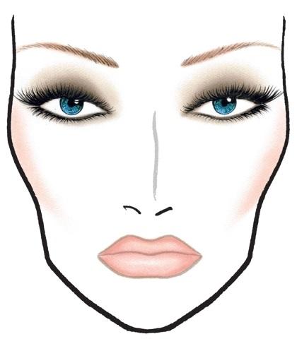 эскиз макияжа 015