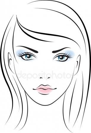 эскиз макияжа 017