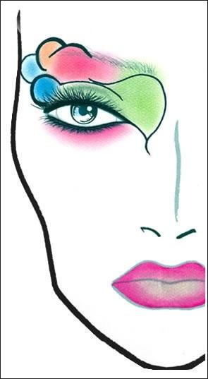 эскиз макияжа 018