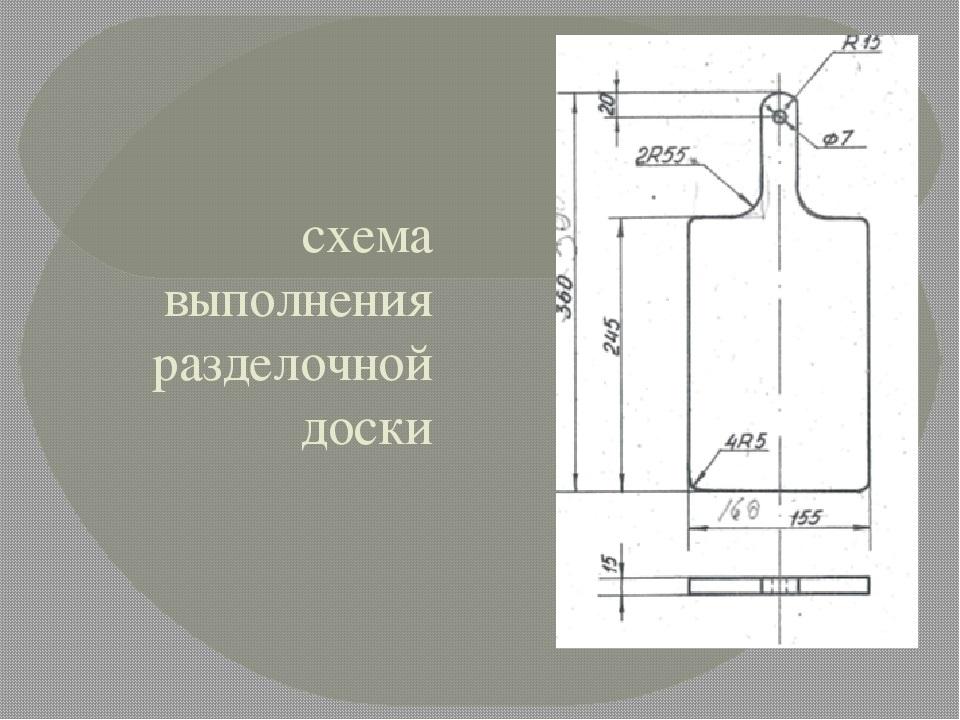 эскиз разделочной доски из дерева 023