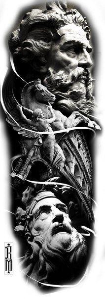 эскиз статуи 017