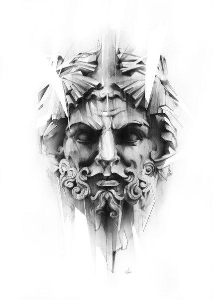эскиз статуи 019