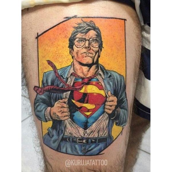 эскиз тату знак супермена 006
