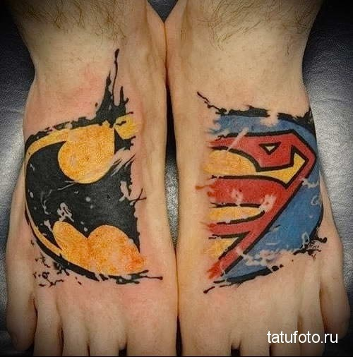 эскиз тату знак супермена 010