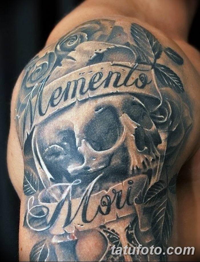 эскиз тату memento mori 001
