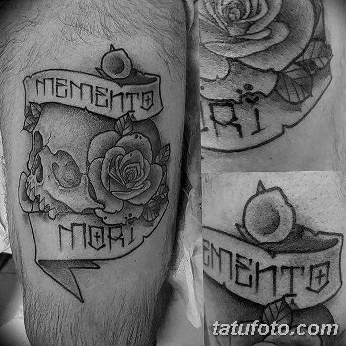 эскиз тату memento mori 003