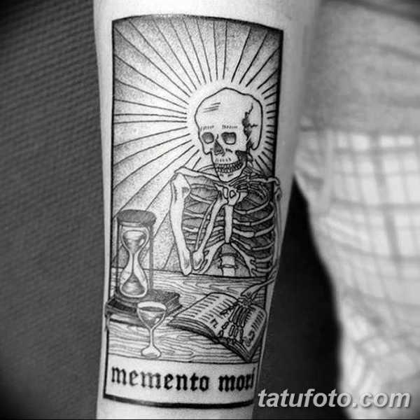 эскиз тату memento mori 011