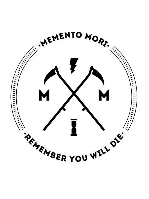 эскиз тату memento mori 014