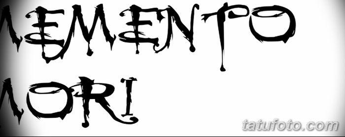 эскиз тату memento mori 017