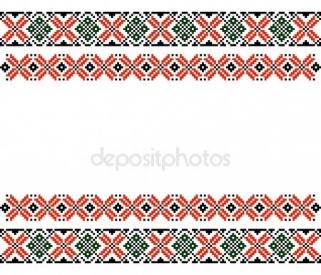 этнические узоры и орнаменты для вышивки 001