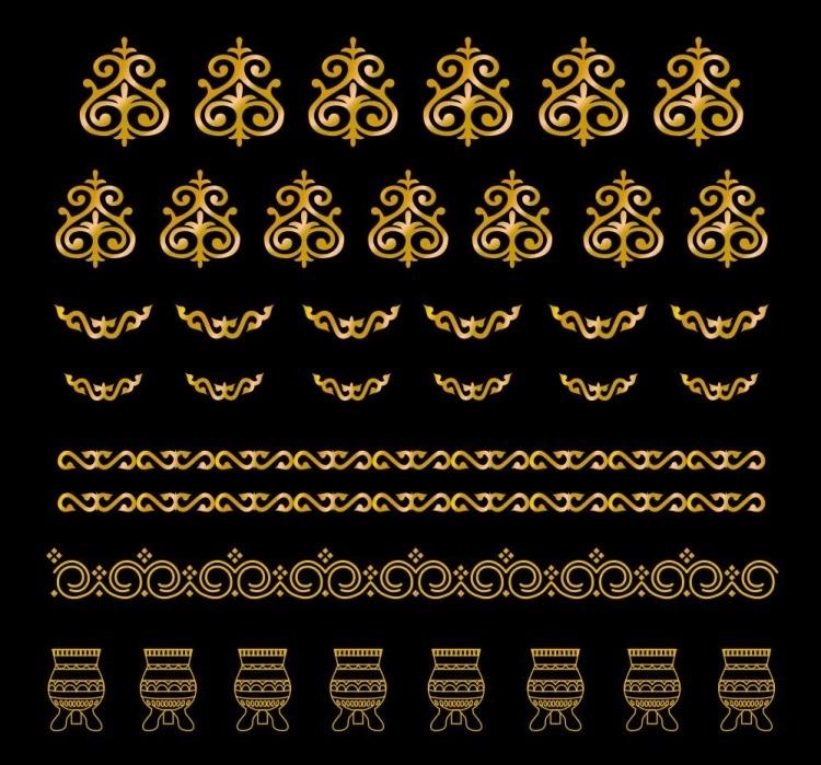 якутский орнамент в векторе 003