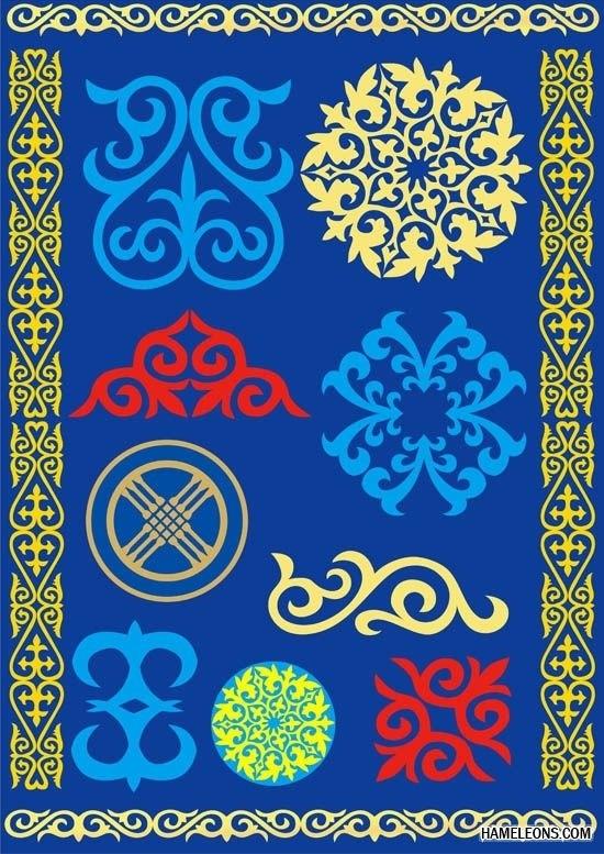 якутский орнамент в векторе 004