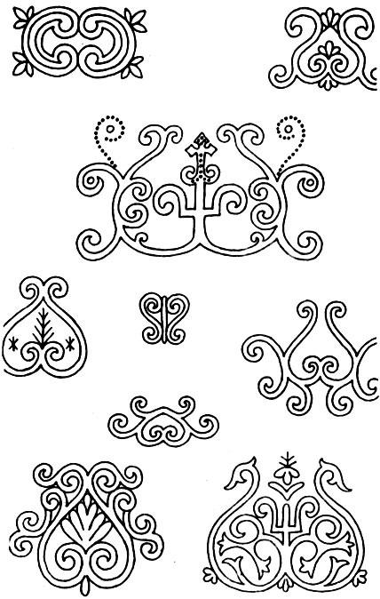 якутский орнамент в векторе 011