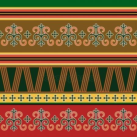 якутский орнамент в векторе 013