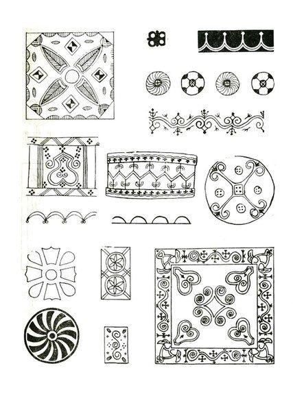 якутский орнамент в векторе 014