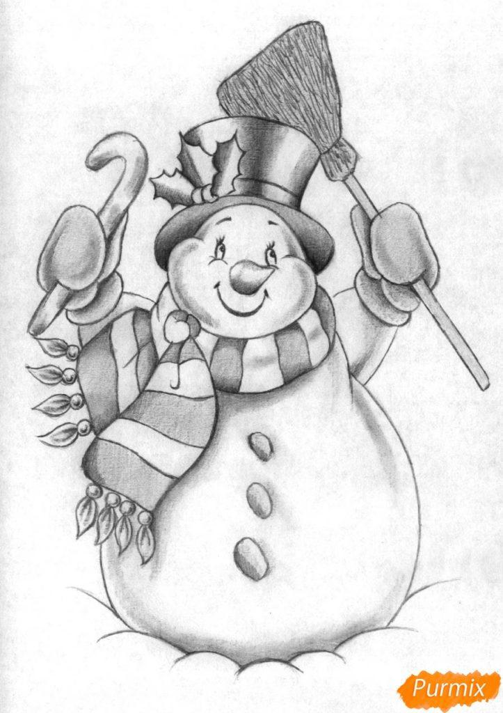 Рисунки про новый год для срисовки (1)