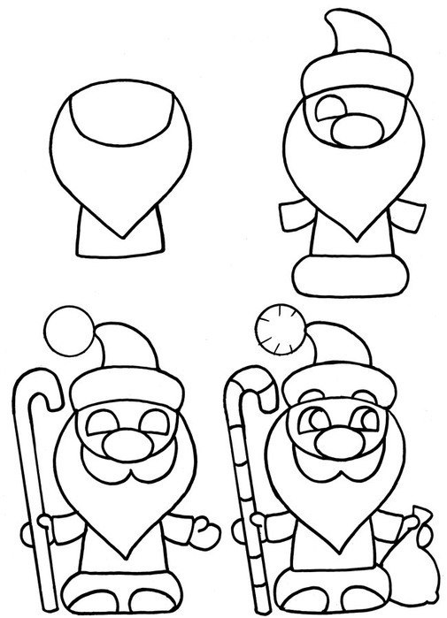 Рисунки про новый год для срисовки (10)