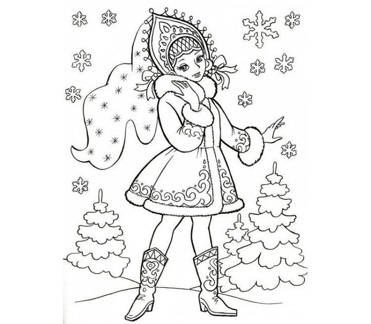 Рисунки про новый год для срисовки (11)