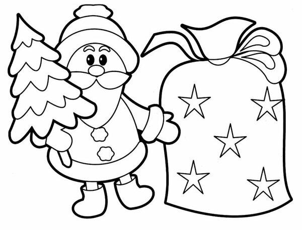 Рисунки про новый год для срисовки (18)