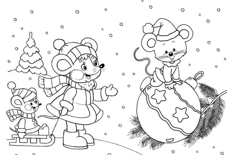 Рисунки про новый год для срисовки (19)
