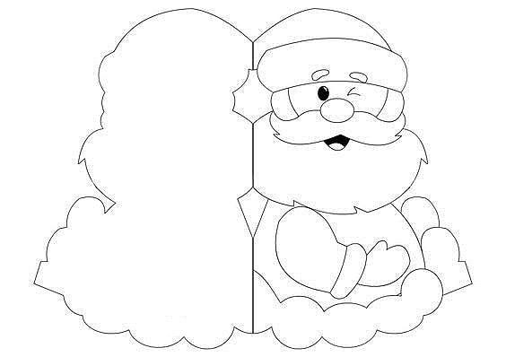 Рисунки про новый год для срисовки (29)