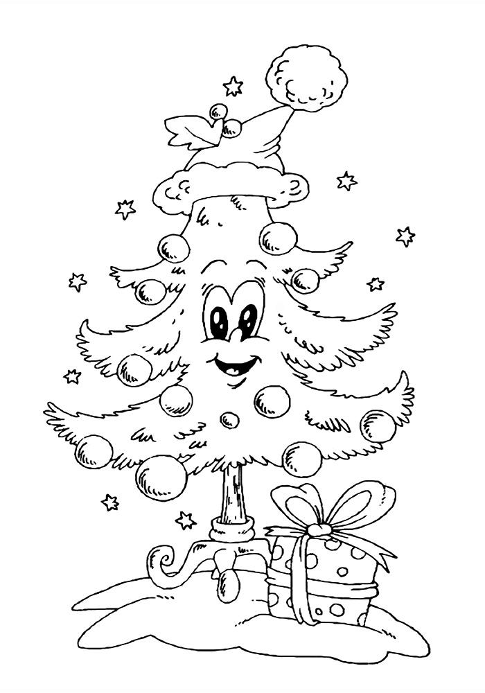 Рисунки про новый год для срисовки (31)