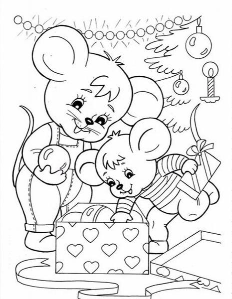 Рисунки про новый год для срисовки (32)